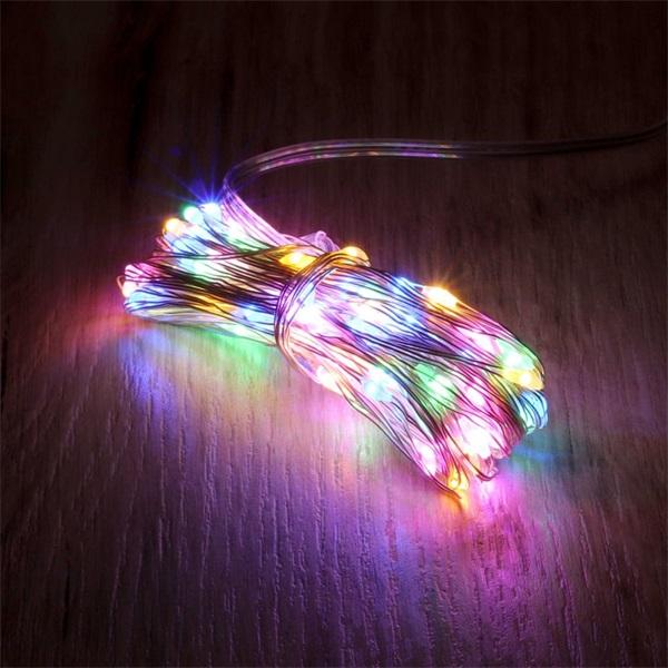 8 programos 10m/távirányítós/több színű/100db LED-es/USB-s fénydekoráció - 1