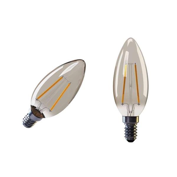 Emos Z74300 VINTAGE 2W E14 meleg fehér+ LED gyertya izzó - 1