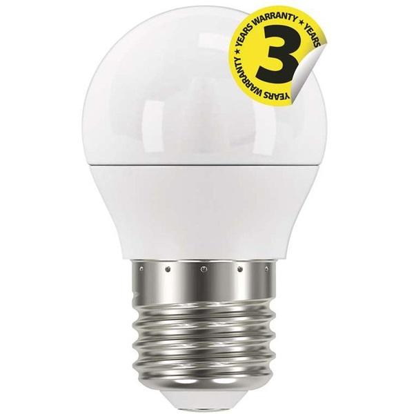 Emos ZQ1120 CLASSIC 6W E27 470 lumen meleg fehér LED kisgömb izzó - 1