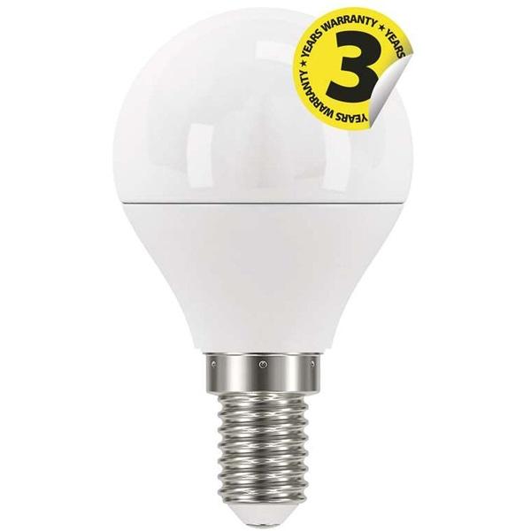 Emos ZQ1220 CLASSIC 6W E14 470 lumen meleg fehér LED kisgömb izzó - 1