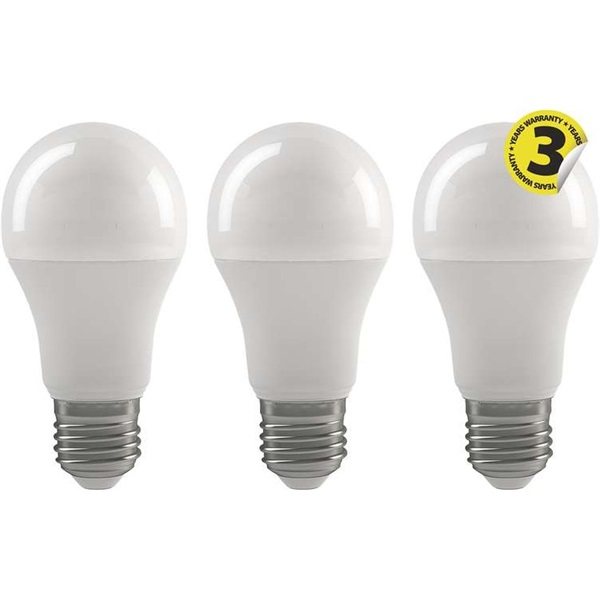 Emos ZQ5140.3 CLASSIC A60 9W E27 806 lumen meleg fehér LED izzó 3db/csomag - 1