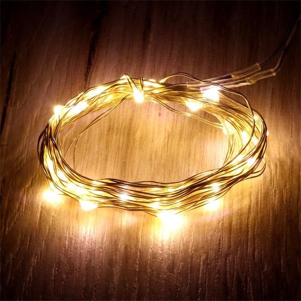 Fix fényű 3m/meleg fehér/30db LED-es fénydekoráció - 1