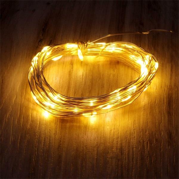 Fix fényű 5m/meleg fehér/50db LED-es fénydekoráció - 1