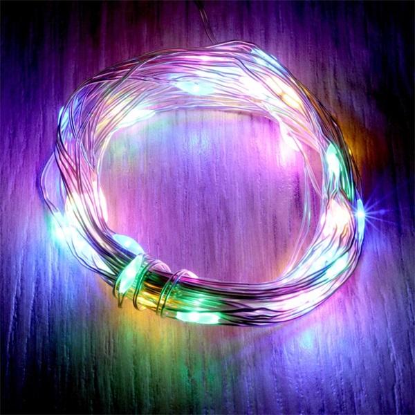 Fix fényű 5m/több színű/50db LED-es fénydekoráció - 1