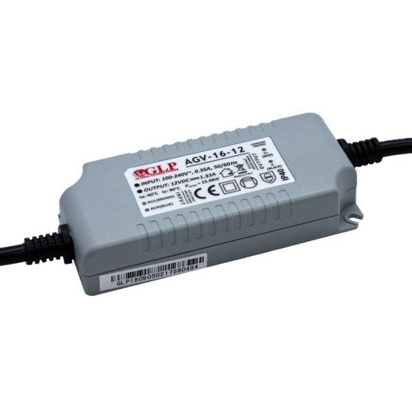 GLP AGV-16-12 15,96W 12V 1.33A IP40 LED tápegység - 1