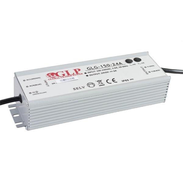 GLP GLG-150-24A 24V/6.3A 150W IP67 PFC szűrős LED tápegység - 1