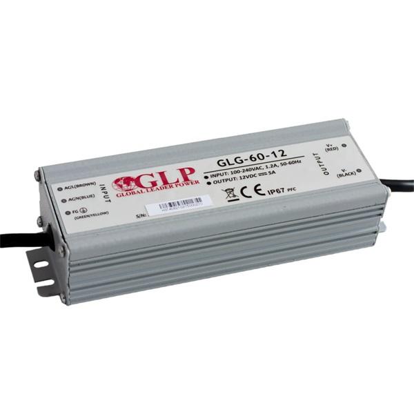 GLP GLG-60-12 60W 12V 5A IP65 PFC szűrős LED tápegység - 1