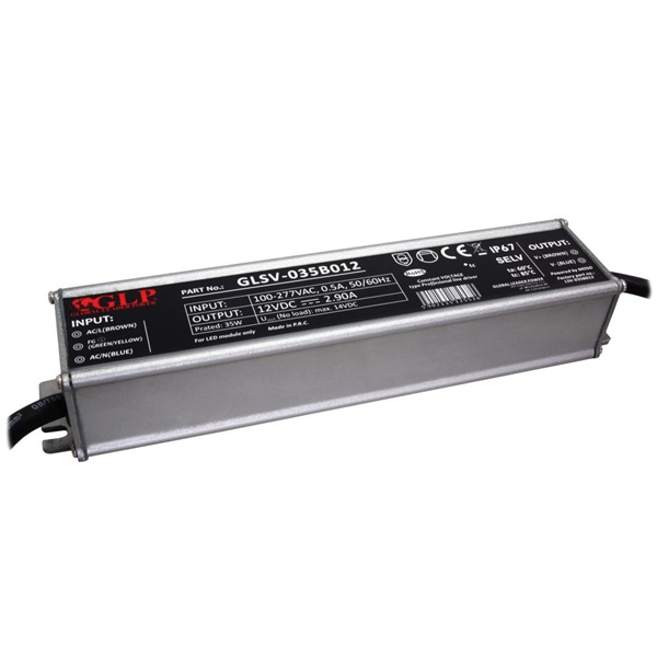 GLP GLSV-035B012 12V/2.9A 35W IP67 LED tápegység - 1
