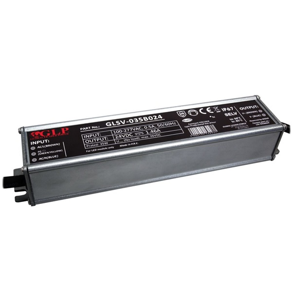 GLP GLSV-035B024 24V/1.46A 35W IP67 LED tápegység - 1