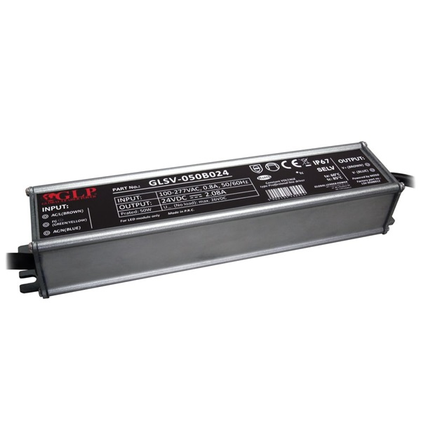 GLP GLSV-050B024 24V/2.1A 50W IP67 LED tápegység - 1
