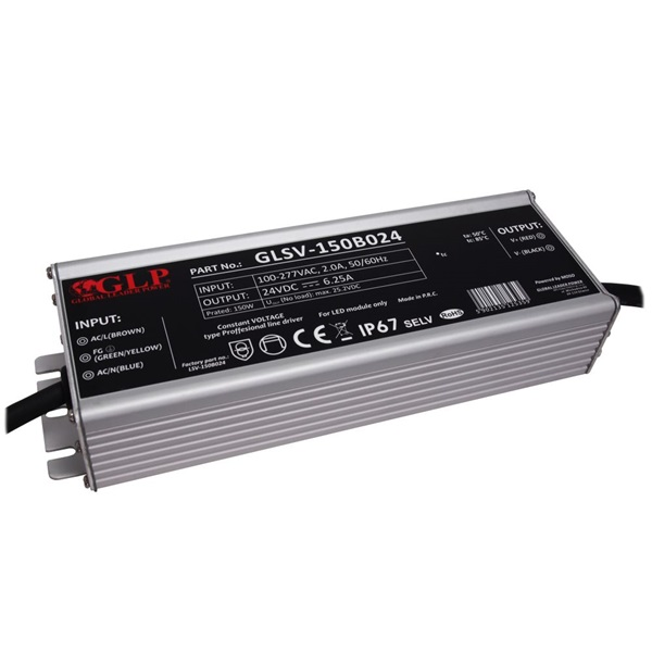 GLP GLSV-150B024 24V/6.25A 150W IP67 LED tápegység - 1