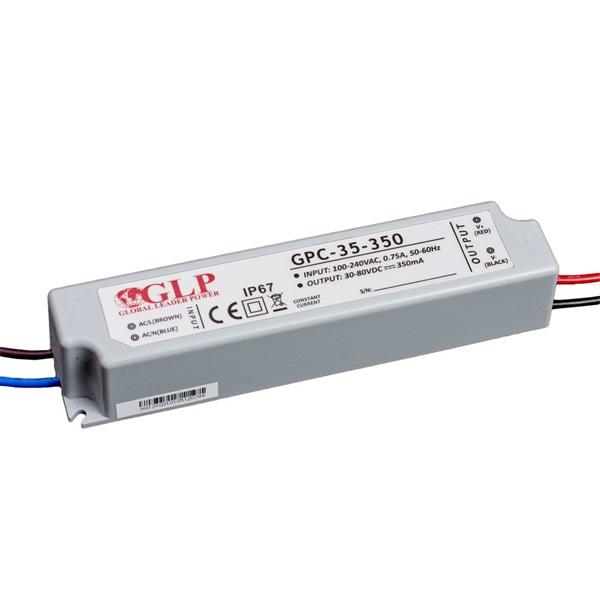 GLP GPC-35-350 28W 30~80V 350mA IP67 LED tápegység - 1