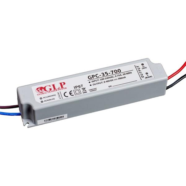 GLP GPC-35-700 34W 9~48V 700mA IP67 LED tápegység - 1