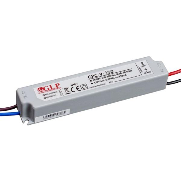 GLP GPC-9-350 8.5W 3~24V 350mA IP67 LED tápegység - 1