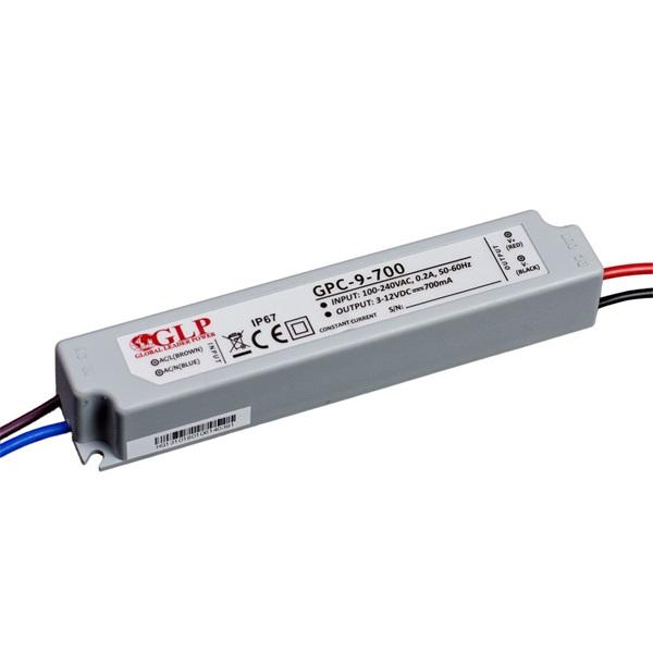 GLP GPC-9-700 8.5W 3~12V 700mA IP67 LED tápegység - 1