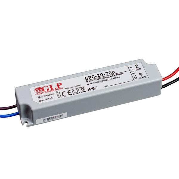 GLP GPCP-20-700 21W 9~30V 700mA IP67 LED tápegység - 1