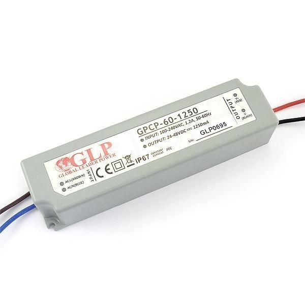 GLP GPCP-60-1250 58.8W 24~47V 1250mA IP67 LED tápegység - 1