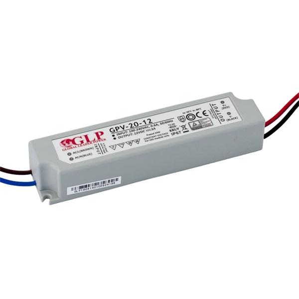 GLP GPV-20-12 24W 12V 2A IP67 LED tápegység - 1