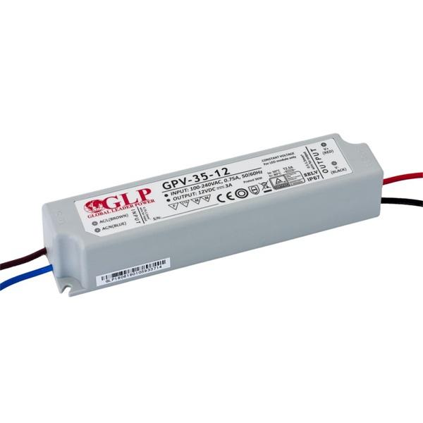 GLP GPV-35-12 36W 12V 3A IP67 LED tápegység - 1