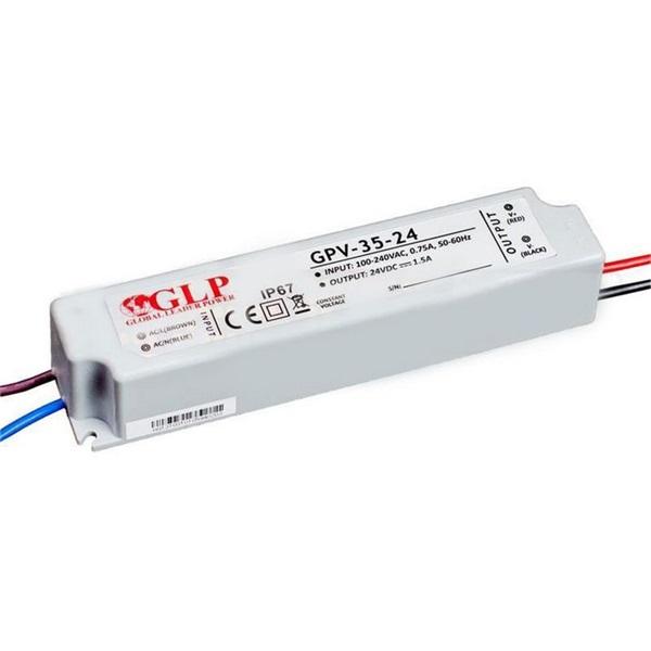 GLP GPV-35-24 36W 24V 1.5A IP67 LED tápegység - 1