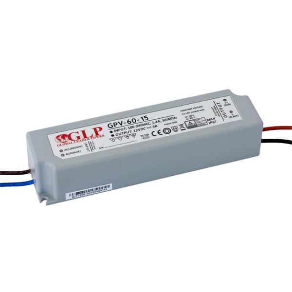 GLP GPV-60-15 60W 15V 4A IP67 LED tápegység - 1