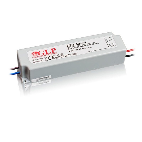 GLP GPV-60-24 60W 24V 2.5A IP67 LED tápegység - 1