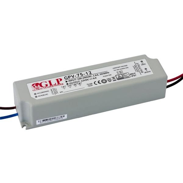 GLP GPV-75-12 72W 12V 6A IP67 LED tápegység - 1