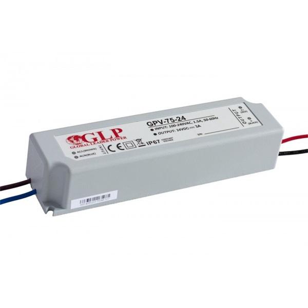 GLP GPV-75-24 72W 24V 3A IP67 LED tápegység - 1