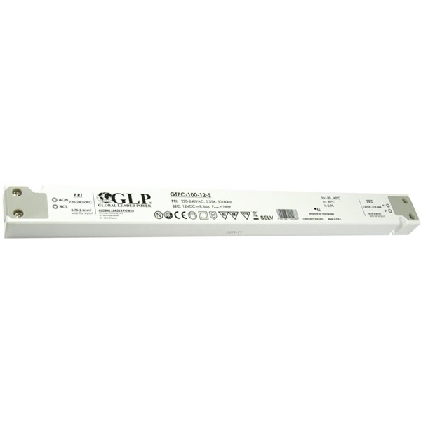 GLP GTPC-100-12-S 12V/8.3A 100W IP20 LED tápegység - 1
