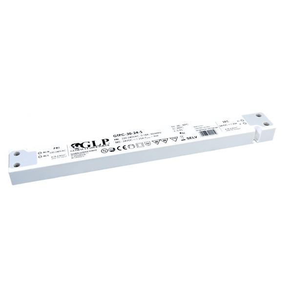 GLP GTPC-30-24-S 24V/1.25A 30W IP20 LED tápegység - 1