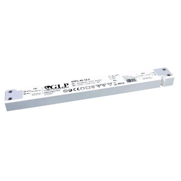 GLP GTPC-45-12-S 12V/3.75A 45W IP20 LED tápegység - 1