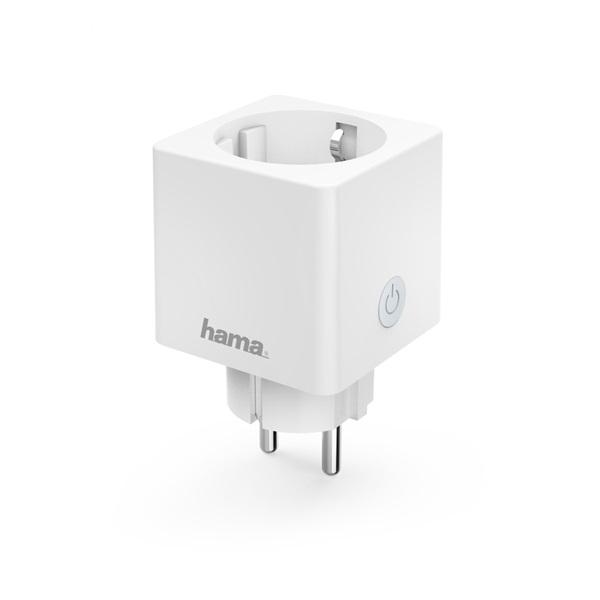 Hama 176575 3680W-os fogyasztásmérős okos WiFi mini konnektor - 1