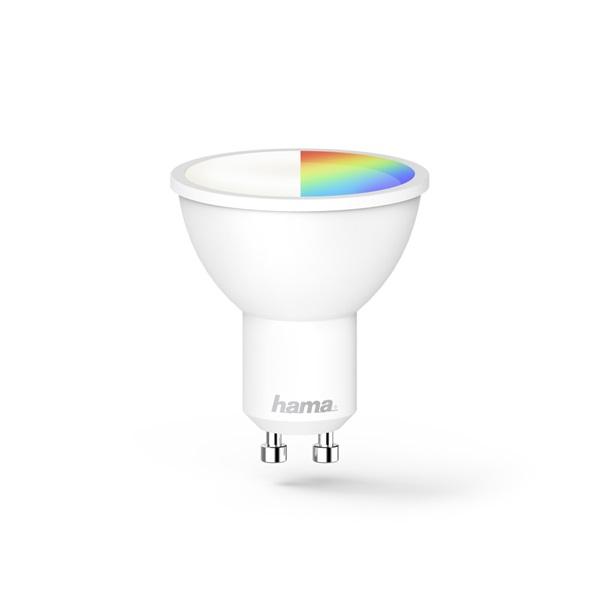 Hama 176582 GU10 5,5W RGB okos Wifi LED izzó - 1