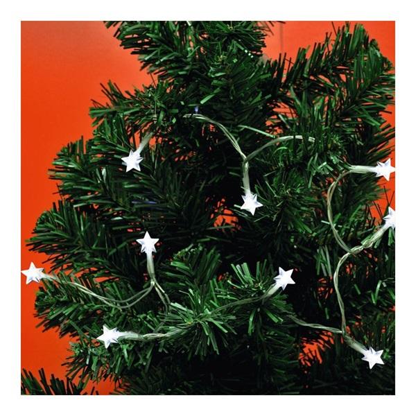 Home MLC 10/CS 0,9m/10 LED/beltéri/8 program/2xAA/hideg fehér karácsonyi fényfüzér - 1