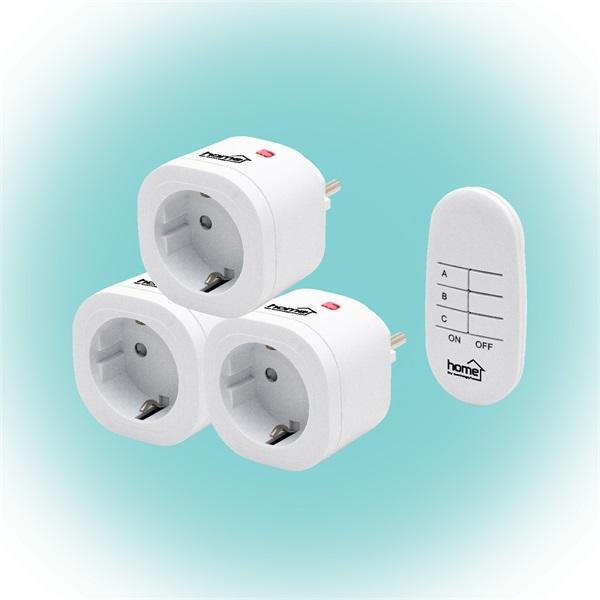 Home TH 3013 távirányítható hálózati aljzat szett távirányítóval - 1