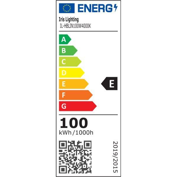 Iris Lighting IL-HBLIN100W4000K 100W/130lm/Philips SMD 2835/60x100 fok LED lineáris csarnokvilágító lámpa - 1