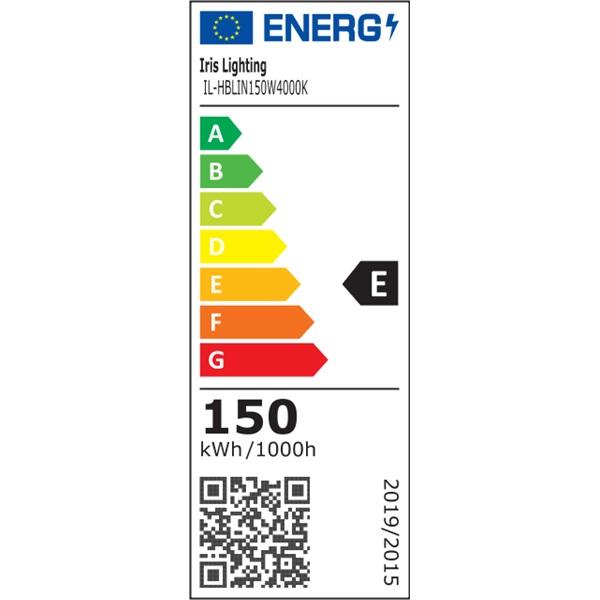 Iris Lighting IL-HBLIN150W4000K 150W/130lm/Philips 2835/60x100 fok LED lineáris csarnokvilágító - 1