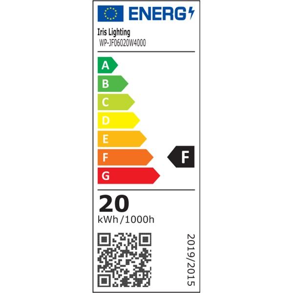 Iris Lighting JF60 integrált LED-es por-és páramentes lámpatest IP65 vibrálás mentes 20W 2000 lm 4000K - 1