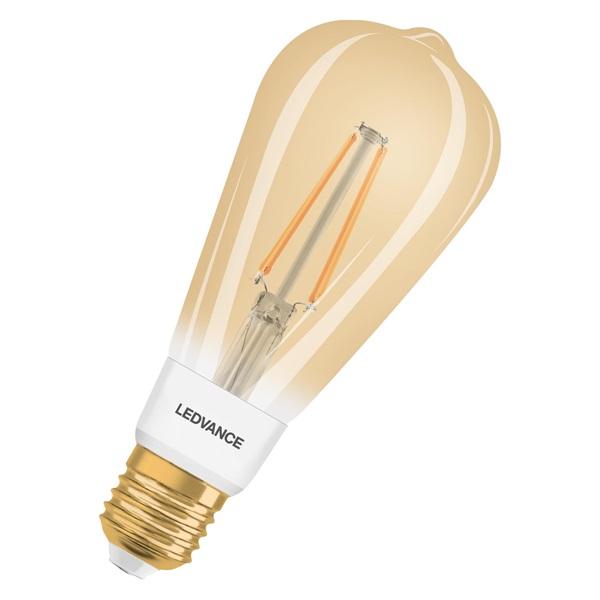 Ledvance Smart+ 6W 2400K E27, dimmelhető Edison alakú filament LED fényforrás - 1