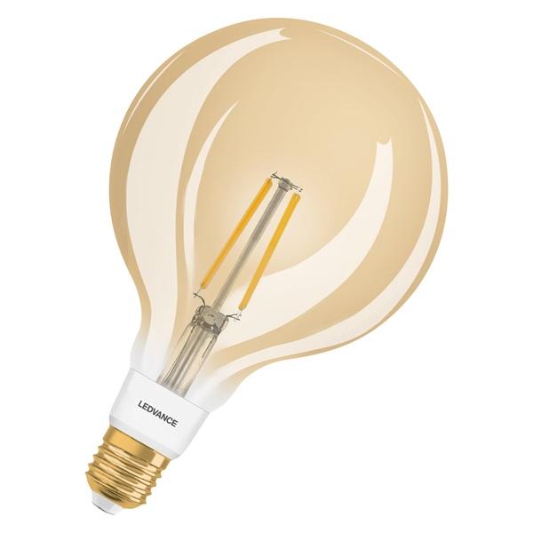 Ledvance Smart+ 6W 2400K E27, dimmelhető gömb alakú filament LED fényforrás - 1