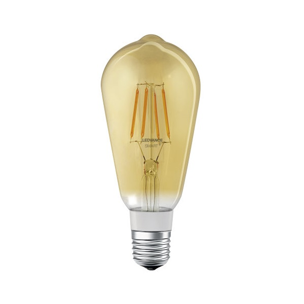 Ledvance Smart+ Bluetooth vezérlésű arany búra/5,5W/600lm/DIM/2500K/E27 LED Edison körte izzó - 1