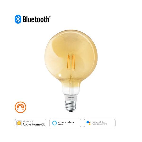 Ledvance Smart+ Bluetooth vezérlésű arany búra/5,5W/600lm/DIM/2500K/E27  LED gömb izzó - 1