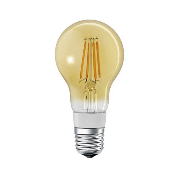 Ledvance Smart+ Bluetooth vezérlésű arany búra/5,5W/600lm/DIM/2500K/E27 LED körte izzó - 1