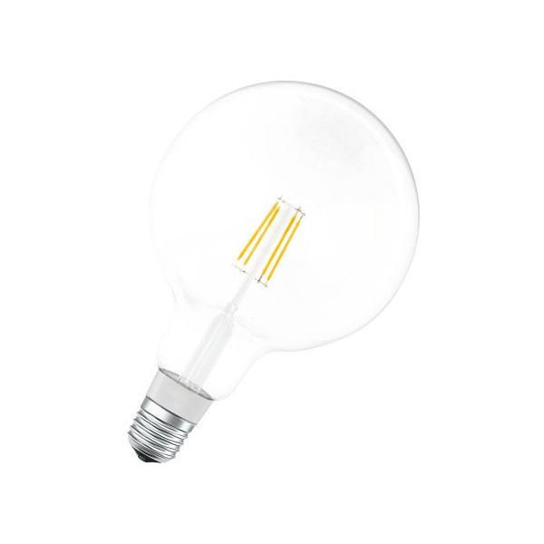 Ledvance Smart+ Bluetooth vezérlésű üveg búra/5,5W/650lm/DIM/2700K/E27 LED gömb izzó - 1