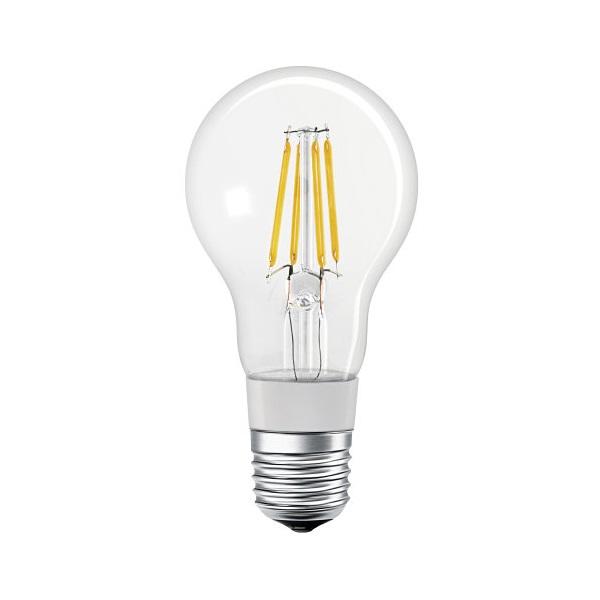 Ledvance Smart+ Bluetooth vezérlésű, üveg búra/5,5W/650lm/DIM/2700K/E27 LED körte izzó - 1