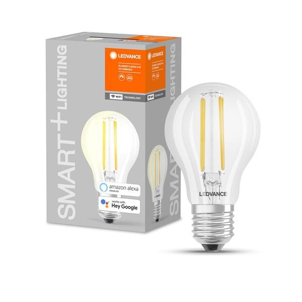 Ledvance Smart+ Wifi vezérelt 2700K E27 LED körte alakú filament fényforrás - 1