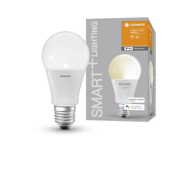 Ledvance Smart+ Wifi vezérlésű 14W 2700K E27 dimmelhető körte LED fényforrás - 1