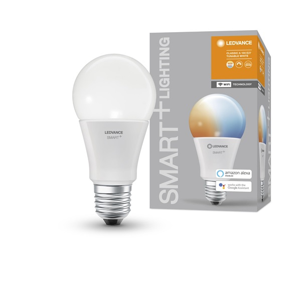 Ledvance Smart+ Wifi vezérlésű 14W állítható színhőmérsékletű E27 dimmelhető körte LED fényforrás - 1