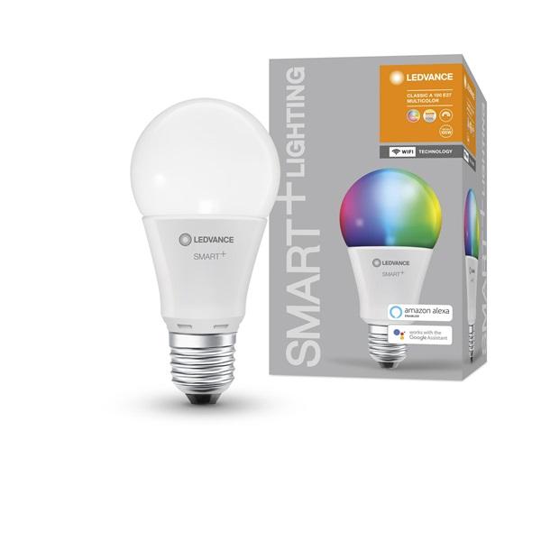 Ledvance Smart+ Wifi vezérlésű 14W RGBW E27 dimmelhető körte LED fényforrás - 1