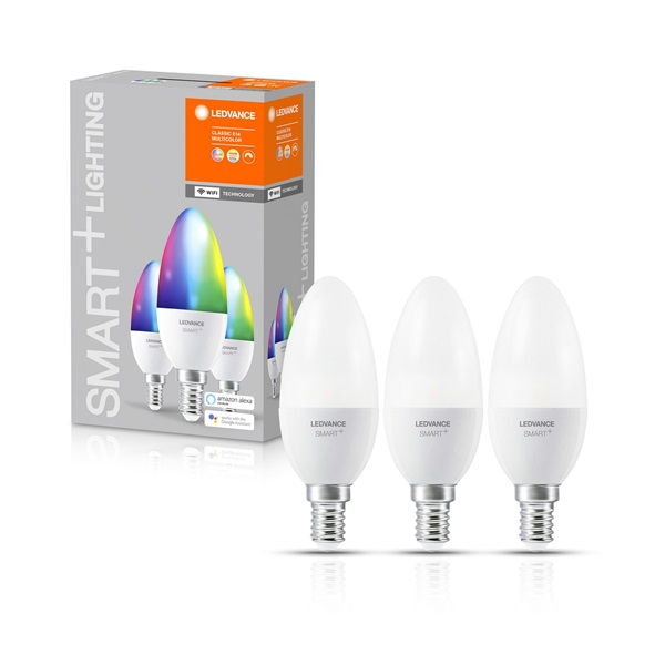 Ledvance Smart+ Wifi vezérlésű 5W 2700K E14 szabályozható kisgömb alakú LED fényforrás - 1